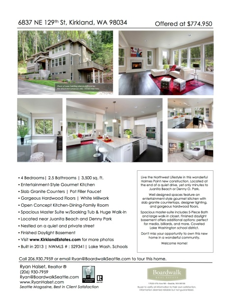 listing flyer example for real estate agent
