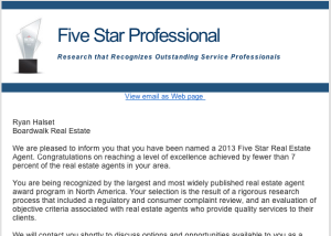 Ryan Halset - Seattle Magazine Five Star Agent, Best in Client Satisfaction