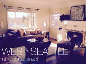 A home we recently put under contract for some clients in a very competitive West Seattle market.